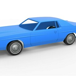 1.jpg Download STL file Diecast shell and wheels Ford LTD 1971 Scale 1:25 • Object to 3D print, CosplayItemsRock