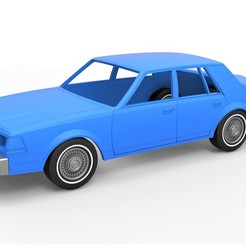 1.jpg Download STL file Diecast shell and wheels Lincoln Continental 1986 Scale 1 to 25 • 3D print design, CosplayItemsRock