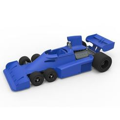 Download 3D printing files Diecast model Tyrrell P34 six-wheeler Formula 1 Scale 1:24, DmK