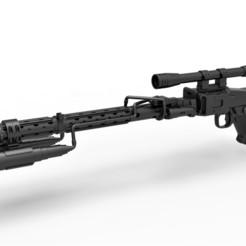 1.jpg Descargar archivo STL Death Trooper Blaster Rifle DLT-19D de Star Wars • Objeto para imprimir en 3D, 3DTechDesign