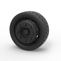 3D print model Diecast Low profile wheel, DmK