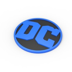 Descargar modelos 3D Emblema DC imprimible en 3D, DmK