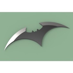 1.JPG Télécharger fichier STL Batarang version 4 • Plan imprimable en 3D, 3DTechDesign