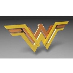 Download 3D printing templates Wonder Woman logo, 3DTechDesign