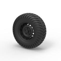 Impresiones 3D Diecast Offroad rueda 8, DmK