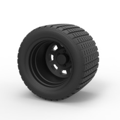 Impresiones 3D Diecast Offroad rueda 26, DmK
