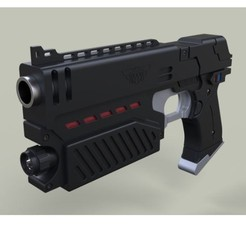Download 3D printer designs Lawgiver from movie Judge Dredd, 3DTechDesign