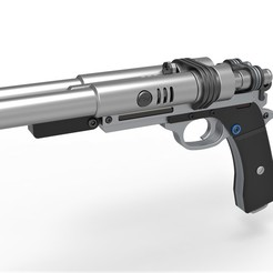 1.jpg Download STL file Qi'ra Blaster Pistol S-195 from the movie Solo A Star Wars Story • Template to 3D print, 3DTechDesign