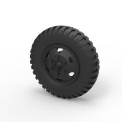 Télécharger plan imprimante 3D Roue moulée sous pression d'un vieux camion, 3DTechDesign