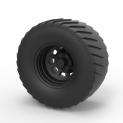 STL Diecast Wheel from Pulling truck, DmK