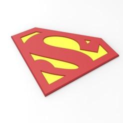 Descargar modelo 3D Emblema de Superman imprimible en 3D para disfraz de cosplay, DmK