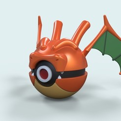 Download STL files Pokeball Dragonite, 3DTechDesign