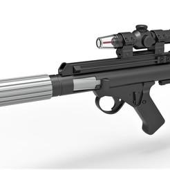 1.jpg Télécharger fichier STL Le pistolet Blaster DH-17 des soldats de la flotte rebelle de Star Wars : un nouvel espoir • Modèle pour impression 3D, CosplayItemsRock