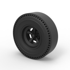3D printer files Diecast Rear wheel of old school dragster, DmK