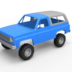 1.jpg Download STL file Diecast shell and wheels 1978 Chevrolet Blazer K5 Scale 1 to 25 • Model to 3D print, CosplayItemsRock