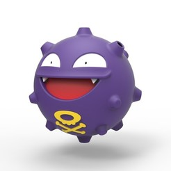 Download 3D printing designs Koffing Pokemon, 3DTechDesign