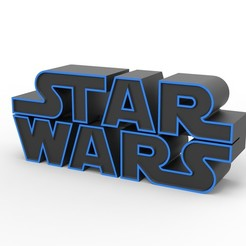 Download 3D model 3D printable Star Wars logo, DmK