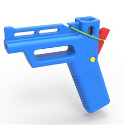 1.jpg Télécharger fichier STL Rubber band pistol with 1 Euro Cents as bullets • Design imprimable en 3D, 3DTechDesign