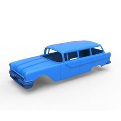 Download 3D printing templates Diecast shell Pontiac Chieftain 1955 Scale 1 to 24, DmK