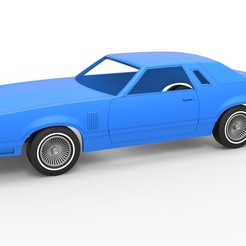 1.jpg Download STL file Diecast shell and wheels Ford Thunderbird Heritage Edition 1979 Scale 1 to 25 • 3D printable design, CosplayItemsRock