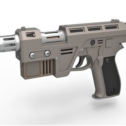 1.jpg Download STL file Blaster Pistol Glie-44 from the movie Star Wars The Last Jedi 2017 • 3D printing object, 3DTechDesign