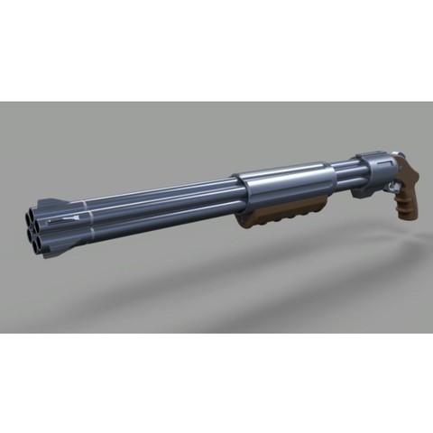 Modèle 3D Fusil du film RIPD, DmK