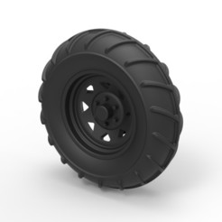 STL file Diecast Front wheel from Mud dragster, DmK