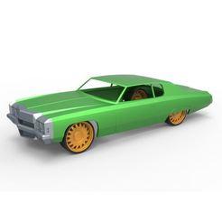 Modelos 3D para imprimir Carcasa y ruedas de fundición a presión Chevrolet Impala 1972 Escala 1 a 24, DmK