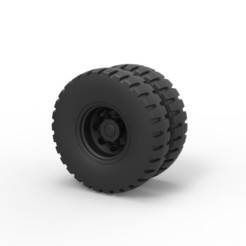 Download 3D printing templates Diecast Double wheel 3, DmK