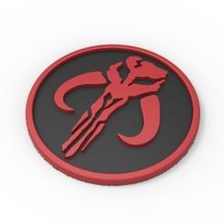 1.jpg Descargar archivo STL Logotipo mandaloriano imprimible en 3D • Diseño imprimible en 3D, 3DTechDesign