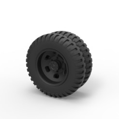 Download STL Diecast Double wheel from old truck, DmK