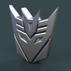 Télécharger fichier 3D Logo Decepticons, 3DTechDesign