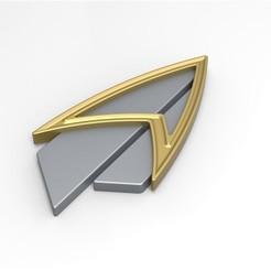 Download 3D printing files Badge from Star Trek Picard version 2, 3DTechDesign