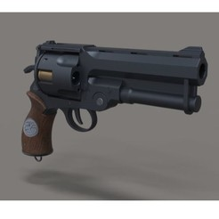 Download 3D model Samaritan revolver from movie Hellboy, 3DTechDesign