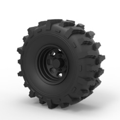 3D print model Diecast Offroad wheel 19, DmK