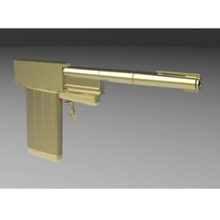 Download 3D printer designs Golden Gun from James Bond 007, 3DTechDesign