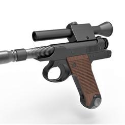 Download STL Blaster Pistol of Cara Dune from The Mandalorian, 3DTechDesign