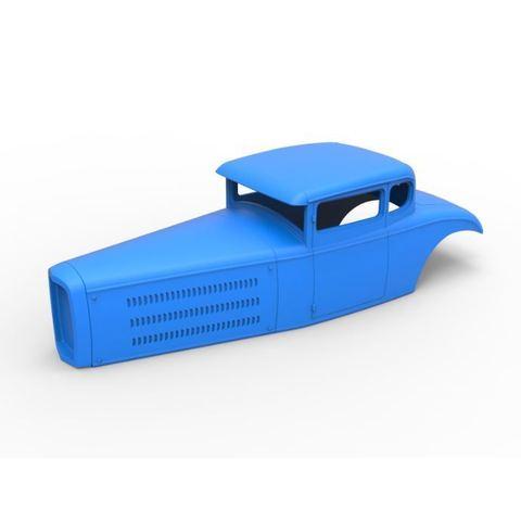 Descargar modelo 3D Diecast shell model for Hot rod Scale 1:24, 3DTechDesign