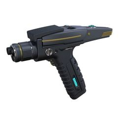Download STL file Accurate replica of Phaser pistol 2 from Star Trek Discovery, 3DTechDesign