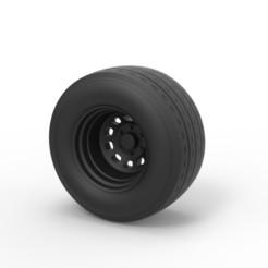 Impresiones 3D Diecast Sport rueda 7, DmK
