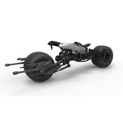 Download STL files Diecast model Batpod from the movie The Dark Knight Scale 1:12, DmK
