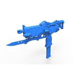 Download 3D printing designs Gun of Sombra from the game Overwatch, 3DTechDesign