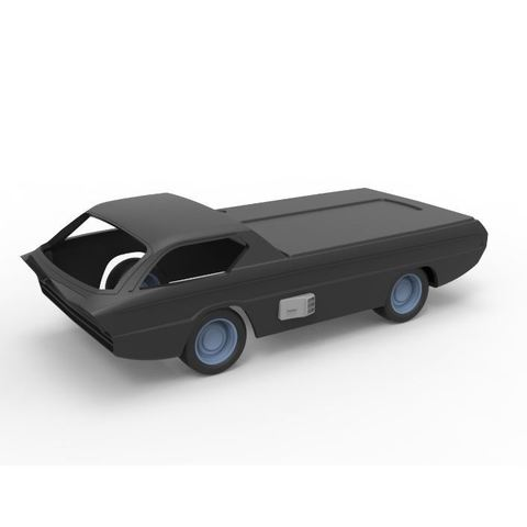 Download 3D printer designs Diecast shell and wheels model Dodge Deora Scale 1 to 24, DmK