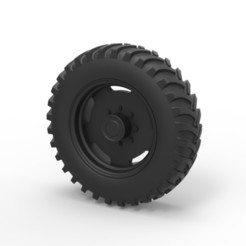 Download STL files Diecast Tractor wheel, DmK