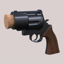 Download 3D printer files Plug pistol of Harley Quinn, 3DTechDesign