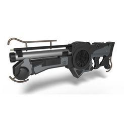 Télécharger modèle 3D Fusil Mangalore du film Le cinquième élément 1997, DmK