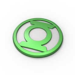 Download STL files 3D printable Green Lantern emblem, DmK