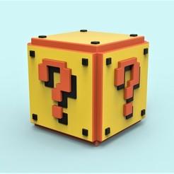 Télécharger fichier impression 3D gratuit Mario Question cube, 3DTechDesign
