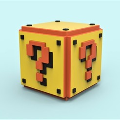 Download free STL file Mario Question cube, 3DTechDesign