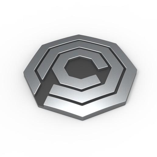 Descargar modelo 3D Emblema OCP imprimible en 3D de RoboCop, DmK
